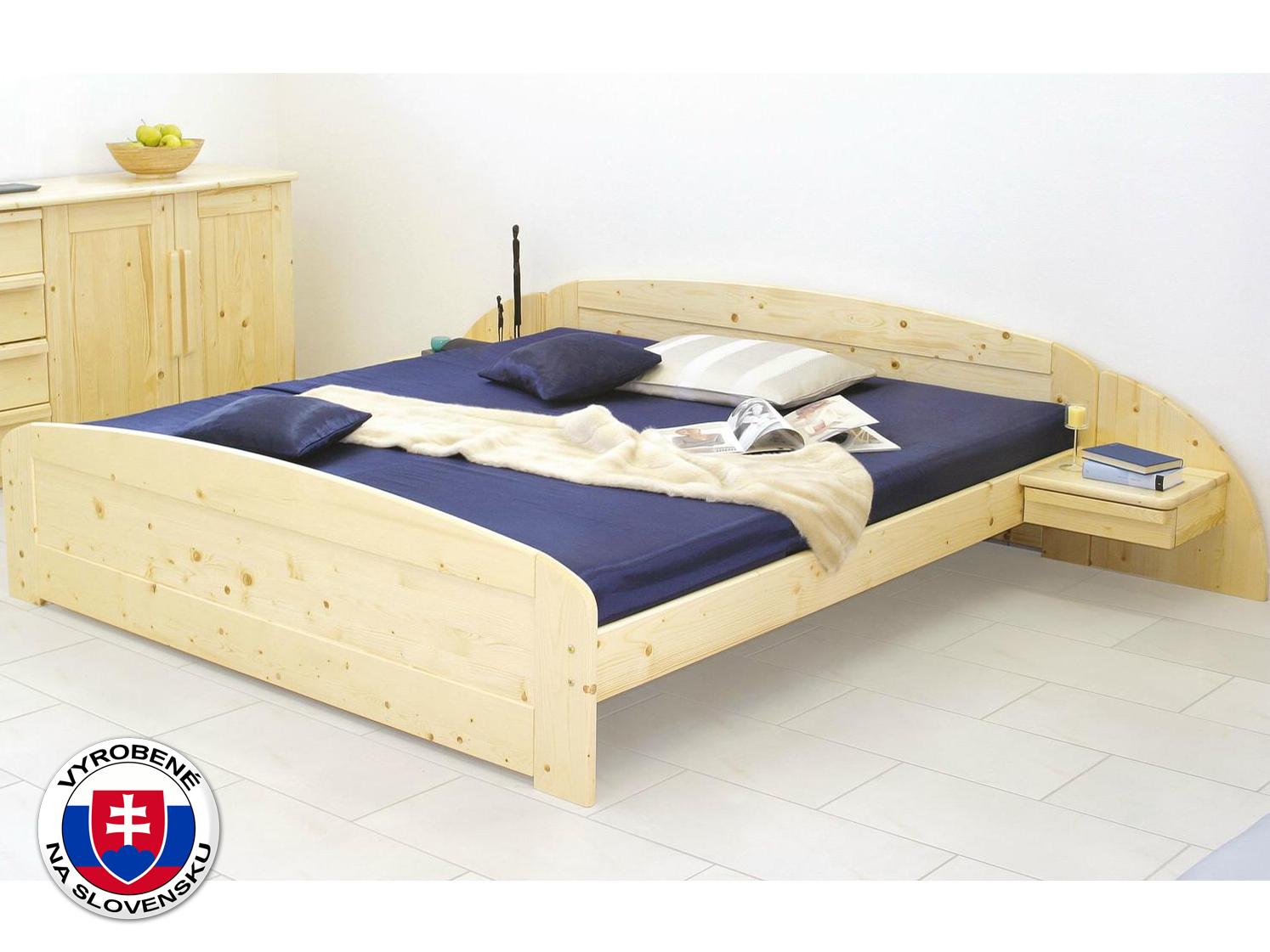 Manželská posteľ 200 cm - Styler - Petra - oblé čelo pri nohách (masív)